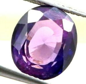 6.55 Ct Natural Purple Sapphire Oval Cut AGSL Certified Loose Gemstone