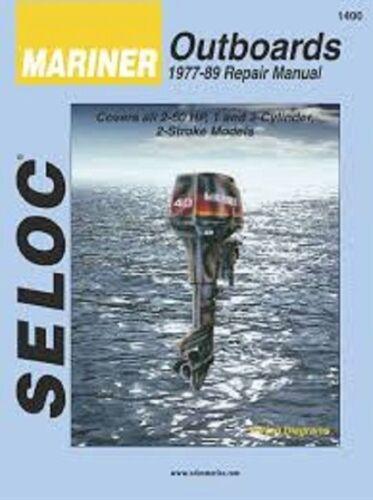 New Seloc Mariner Outboard Motor Engine Repair Manual 1977-89 Sec 1400