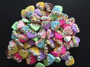 5pc. Heart Cookies, Kawaii, polymer clay, cabochons, flatbacks, scrapbook