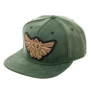 Legend of Zelda Distressed Faux Leather Snapback Hat Metal Wingcrest ... a5795683832c