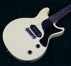 2018-Popular-Single-P-90-LP-Junior-Electric-Guitar-Cream-Color-Dot-Inlay