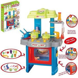 large kids role play cooker electric kitchen set girls boys cooking toy xmasgift ebay. Black Bedroom Furniture Sets. Home Design Ideas