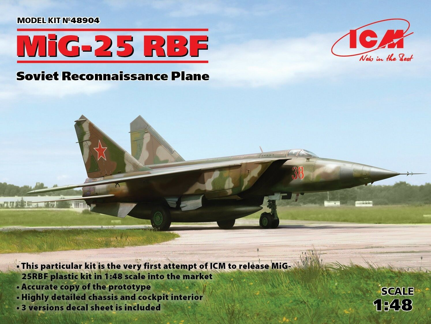 ICM 1 48 MiG-25RBF Soviet Reconnaissance Plane