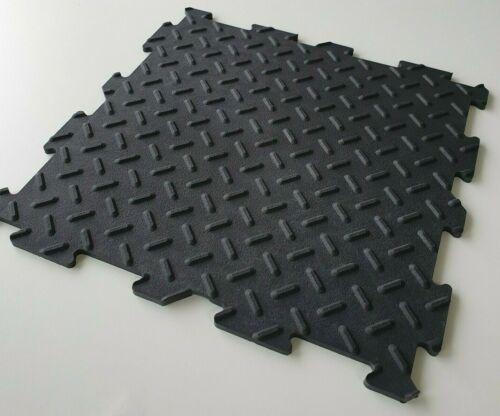 PVC Klick-System Fliesen Garagenboden Garage Werkstatt Anti-Rutsch Oberfläche