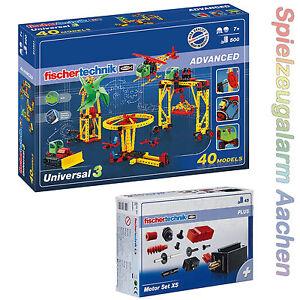 Fischertechnik UNIVERSAL 511931 Bau- & Konstruktionsspielzeug-Sets 505281 = 516187 Grundbaukasten mit XS Motor