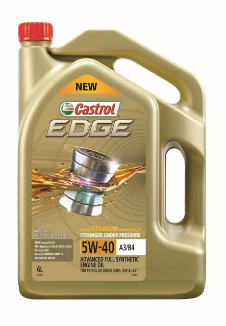 Castrol EDGE 5W-40 Full Synthetic Engine Oil 6L 3421236
