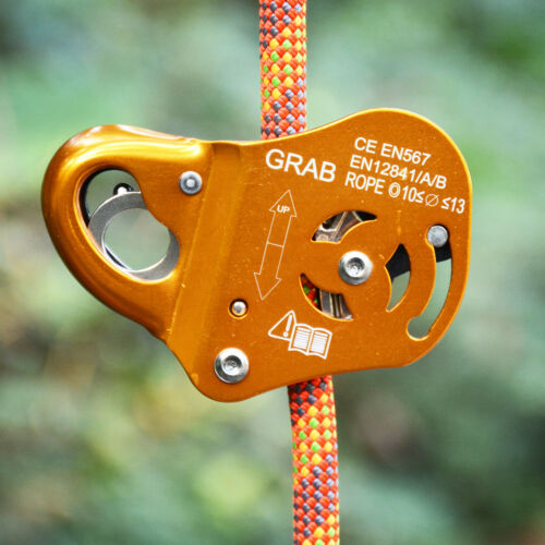 Rope Grab Grip for Rock Climbing Caving Rescue Belaying Rappelling Fall Protecta
