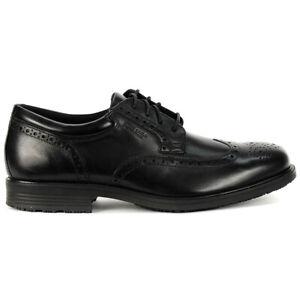 Rockport Men's Essential details Waterproof Wingtip Black Shoes V73842 NEW!