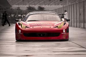 Details About Poster Of Ferrari 458 Gt3 Italia Hd Race Car Print