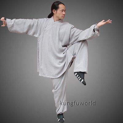 Dark Gray Wudang Taoist Robe Tai Chi Suit Martial arts Uniform