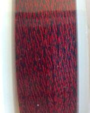 """GUDEBROD Butt Wind Rod Wrapping Braid 1/16"""" Black/Scarlet 001/326 50 Yd Buttwind"""