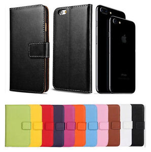 Premium-Leather-Flip-Book-Wallet-Case-Cover-For-Apple-iPhone-7-amp-7-Plus