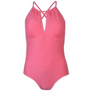 Ladies Branded Rock And Rags Tummy Control Halter Swimsuit Swimwear Size 10-20