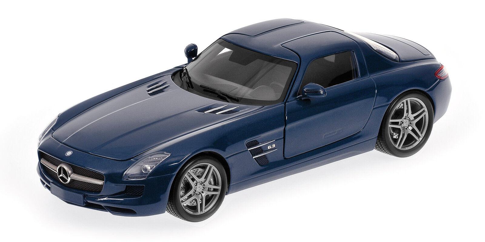 Mercedes benz sls amg 2010  bleu metallic minichamps 1 18 model 100039021  vente discount en ligne bas prix