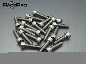6x Titanium  Parallel Socket Bolt Allen RacePro Purple M6 x 29mm x 1mm