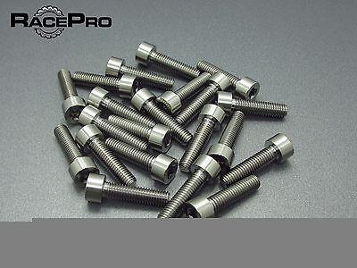 2x Titanium  Parallel Socket Bolt Torx Natural M7 x 20mm x 1mm RacePro