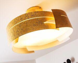 design deckenleuchte leuchten deckenlampe lampen lampe deckenstrahler gold farbe ebay. Black Bedroom Furniture Sets. Home Design Ideas