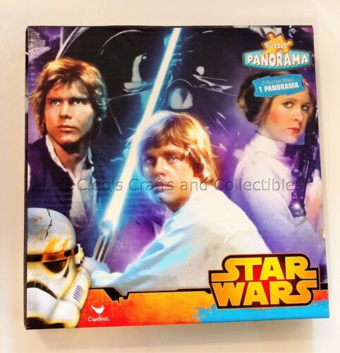 Star Wars Panorama Puzzle 3-in-1 Set Original Trilogy 211 Piece New Sealed!