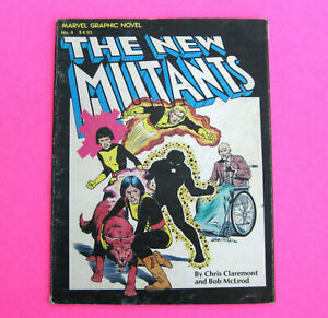 THE NEW MUTANTS #4 (Marvel Comics Book) Vintage 1982 Graphic Novel X-Men