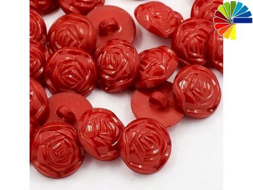 20 ösenknöpfe rose 17mm rose fleur enfants boutons