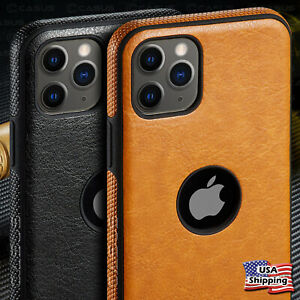 For Apple iPhone 11 Pro Max SLIM Luxury Leather Back Ultra Thin TPU Case Cover