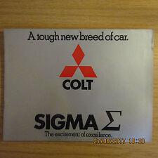 MITSUBISHI COLT SIGMA 1600GL-A/T 2000 GLX-A/T UK Market Sales Brochure 1976