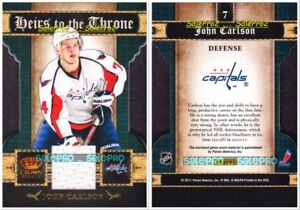 PACIFIC-CROWN-ROYALE-2011-JOHN-CARLSON-7-CAPITALS-HEIRS-TO-THRONE-GAME-JERSEY