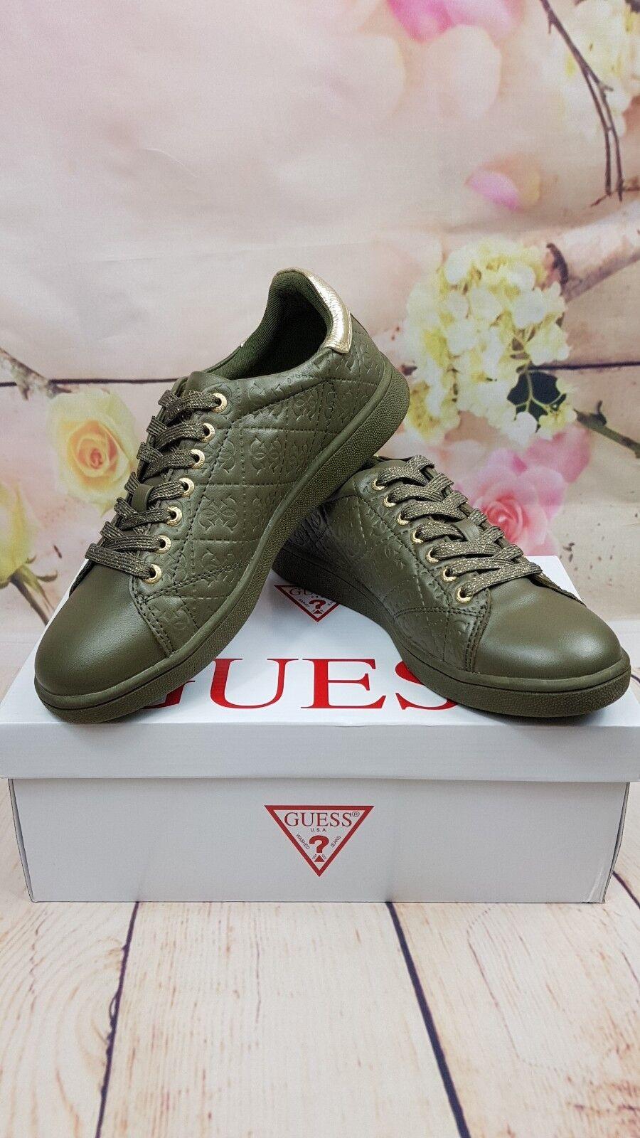 Zapatillas Zapatillas Zapatillas Guess verde de Color caqui Tamaño 38  alta calidad