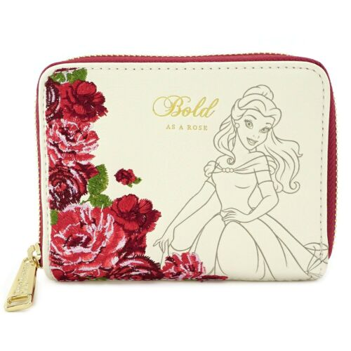 Loungefly Belle Beauty and the Beast Rose Zip Around Wallet