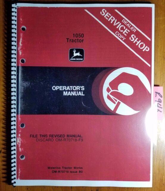 john deere 1050 service manual