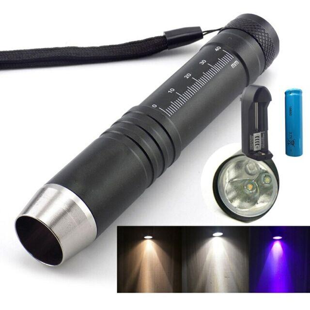 8PCS UV Ultra Violet Flashlight Blacklight 365//395nm LED Torch Inspection Lamp
