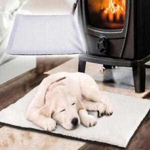 Selbsterhitzung-Hunde-Katze-Pet-Bett-Waschbar-Keine-Heizdecke-Warm-Soft-Blanket