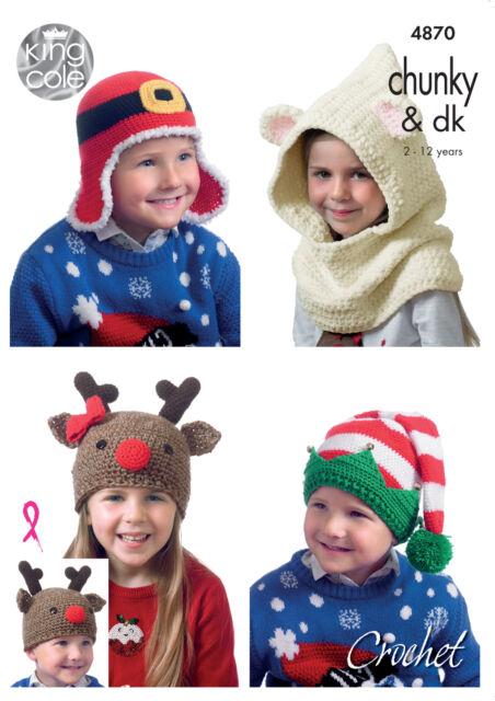 fest Weihnachten Hut Häkelmuster Kinder Neuheit hüte King Cole 4870 ...