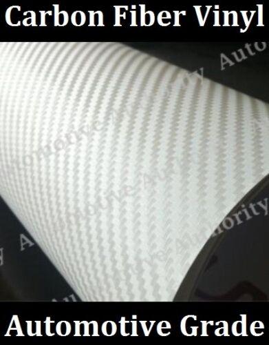 Pro Grade w// AIR RELEASE Choose Your Size WHITE CARBON FIBER Vinyl Wrap Film