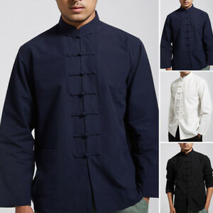 0d6d823a67 Men s Comfy Cotton Traditional Chinese Tang Suit Shirt Kung Fu Tai ...
