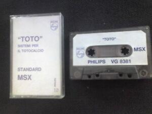 Toto-X-MSX-Cassette-Original-betslip-VG-8381-Philips