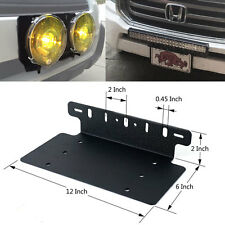 Car Van Front License Plate Installation LED Lights Bracket Support Mounting