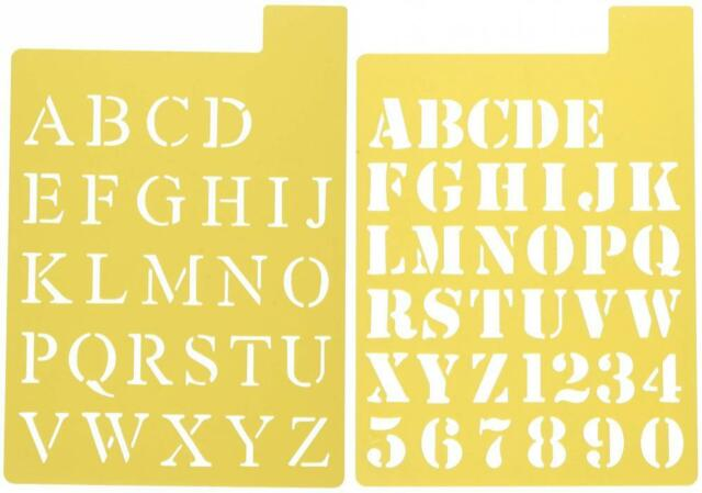 Darice Letter Stencils 1 Inch Stencil Letters in 3 Fonts