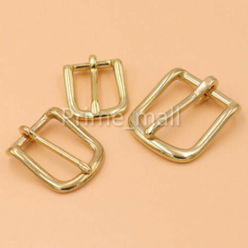 Heel Bar Buckle solid brass Single Pin belt buckle for Leather craft bag strap