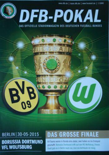 Programm DFB Pokal Finale 2015 Borussia Dortmund VfL Wolfsburg