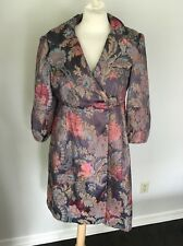 NANETTE LEPORE Asian Floral Style Party Coat Jacket Embroidered Sz 10