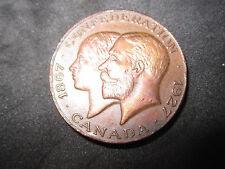 1867-1927 Canada Confederation Medal--Bronze--Very Nice