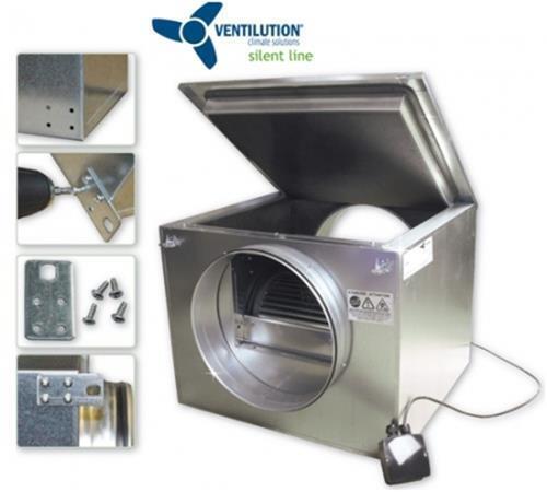 Ventilution Silent Line Box 1140 m³ h 250mm schallgedämmt Ventilator Lüfterkiste     | Genialität  | Elegante Form  | Luxus