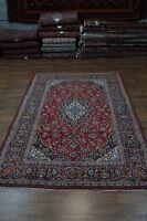 Beautiful Traditional Handmade Red Kashan Persian Rug Oriental Area Carpet 8X11