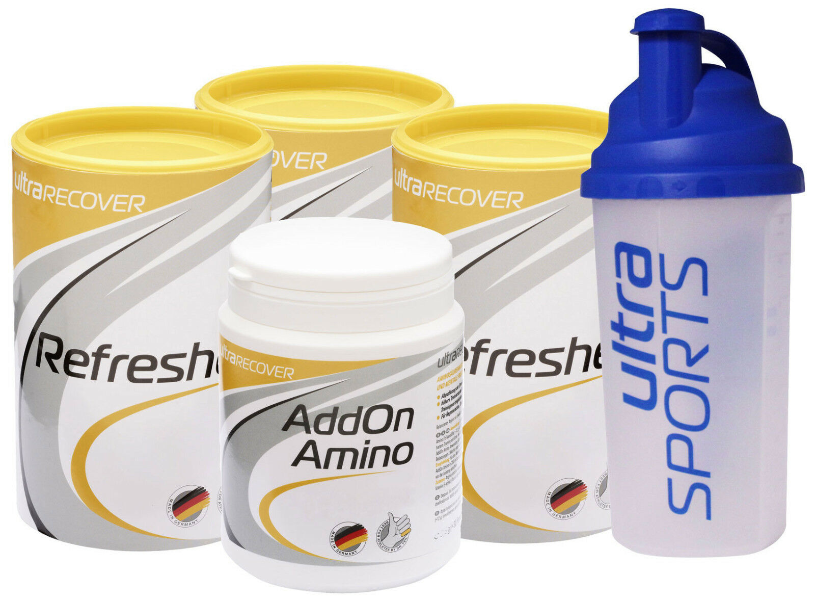 Ultra Sports 310g Refresher 3x500g & AddOn Amino 310g Sports + Mix Shaker ea4b2a