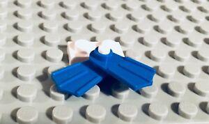 ☀️NEW Lego MINIFIG Black Flippers swimming swimmer scuba diver snorkel swim