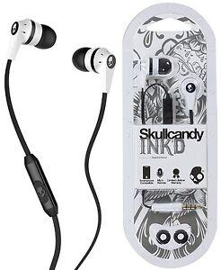 Skullcandy-s2ikfy-074-BLANCO-Negro-Ink-039-D-2-0-Auriculares-Internos-Con