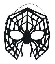 NEW MASQUERADE LARGE BLACK SPIDER SPIDERWEB MASK HALLOWEEN FANCY DRESS