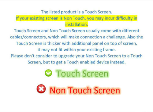 """00NY686 LED LCD On-Cell Touch Screen 14/"""" FHD IPS Replacement Display Lenovo FRU"""