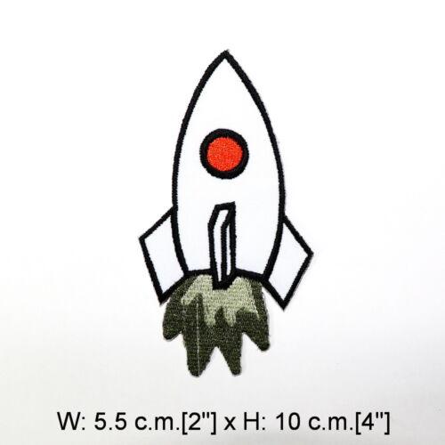 Astronaut in Space Shuttle Rocket Alien Joke DIY Clothing Jacket Iron on patch